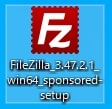 FileZillaセットアップアイコン