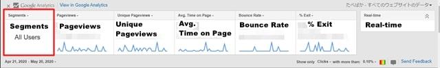 page analytics segments