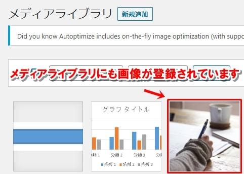 WordPressのメディアライブラリにWordに貼付けた画像が登録されている画像