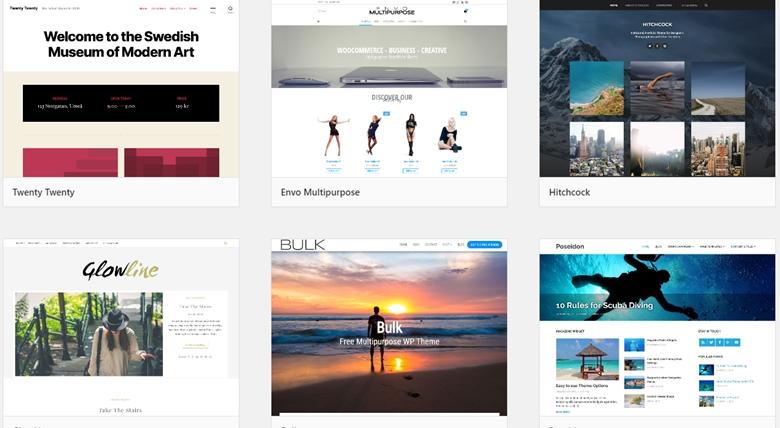 WordPressのテーマ一覧の画像